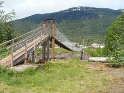 Split Mountain Adventures - Nisga'a Valley North West BC - Suspension bridge